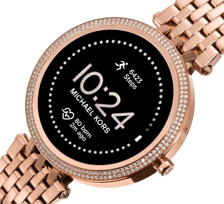 Rose gold-tone Michael Kors Gen 5E Access Smartwatch.