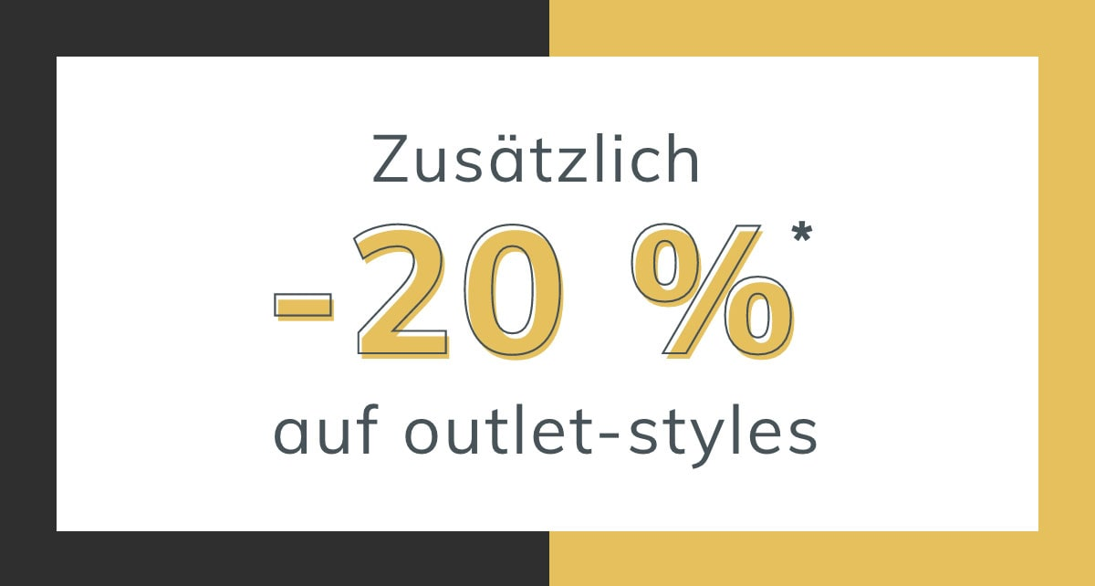 Extra 20% OFF* Outlet
