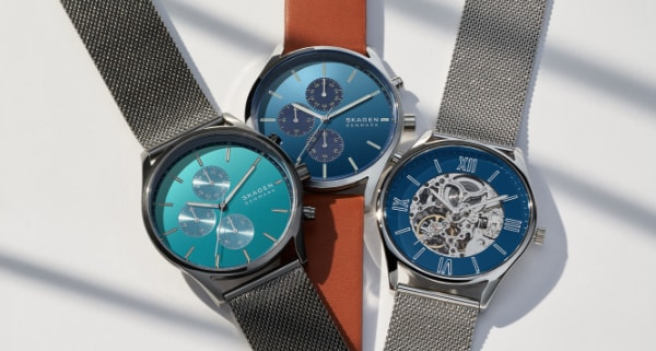 Three mens Skagen watches.