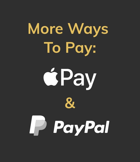 More ways to pay. Apple Pay and PayPal.