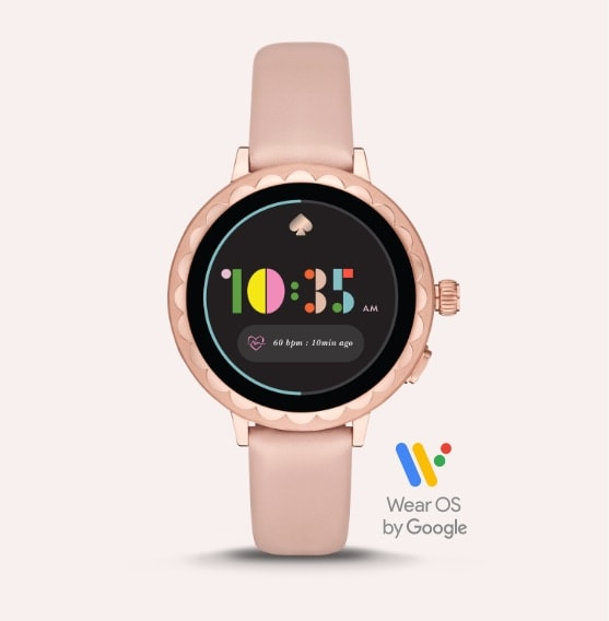Pink kate spade new york smartwatch.
