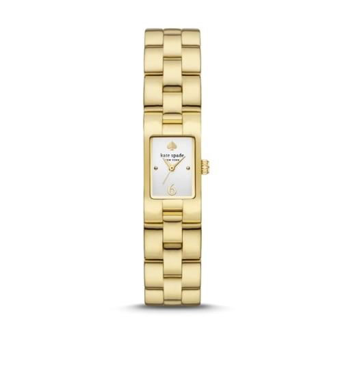 Rose gold-tone kate spade new york watch featuring spade lugs.