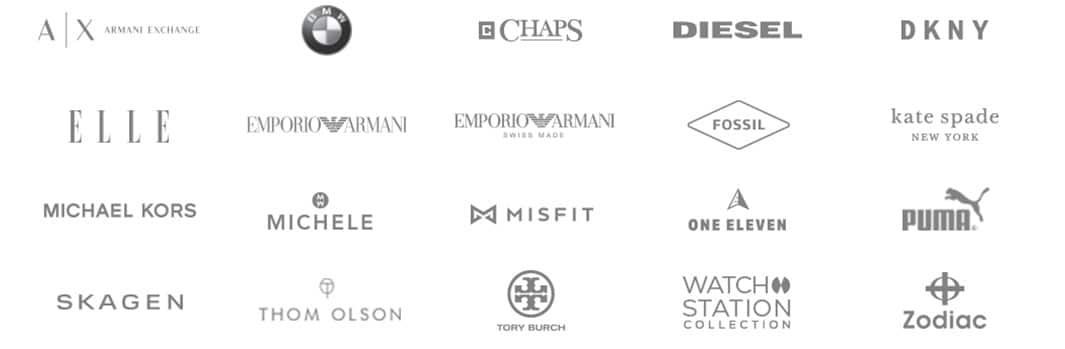 Voici les logos des marques que nous offrons